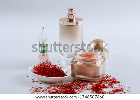 Saffron and cosmetic cream with saffron extracts. The use of saffron in cosmetology. #1748507660