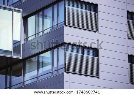 Modern building with facade cladding #1748609741