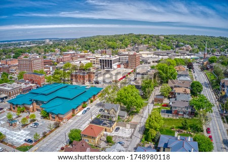 Aerial View of Downtown Council Bluffs, Iowa