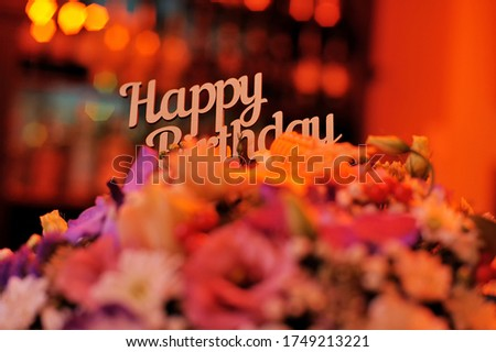 Beautiful bouquet of flowers for a birthday holiday