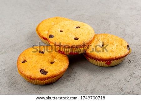 a top view cakes round yummy delicious on the grey desk #1749700718