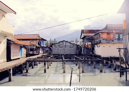 Pictures of slum district in Ternate, North Maluku, Indonesia. #1749720206