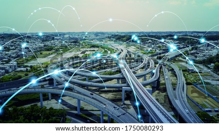 Transportation and technology concept. ITS (Intelligent Transport Systems). Mobility as a service. Royalty-Free Stock Photo #1750080293