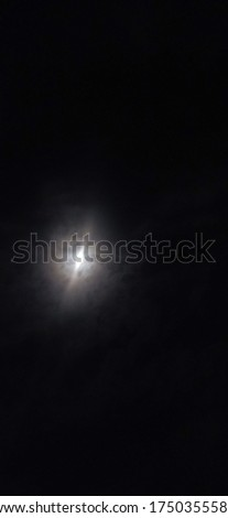 While sleeping on building top looking to sky in night this pic was taken ,while moon is bright shiny