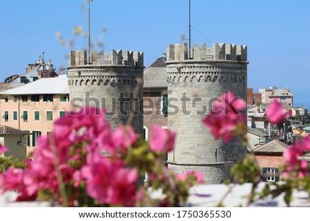 Genoa Porta Soprana Genova ligury Royalty-Free Stock Photo #1750365530