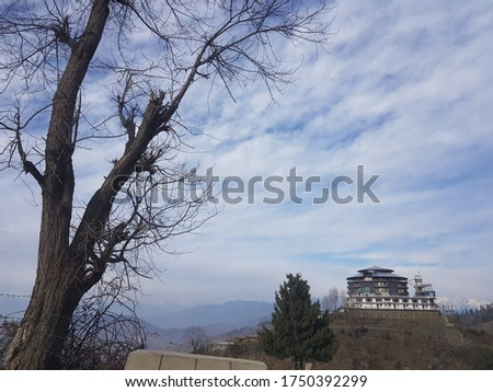 Beauty of Malam Jabba with the Beautiful homes in a winter with amazing sky pics
