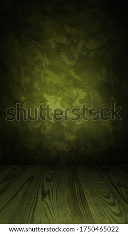 Military camouflage photoshoot backdrop in portrait mode suitable for military products packshots