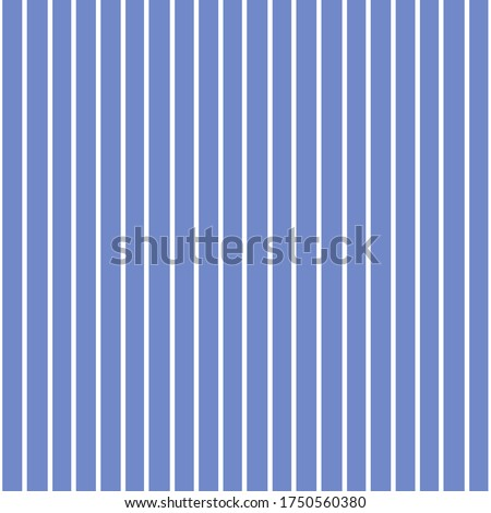 Seamless striped pattern. Thin white vertical stripes on a blue background.