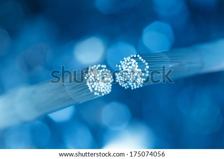 Optic fiber cable connecting Royalty-Free Stock Photo #175074056