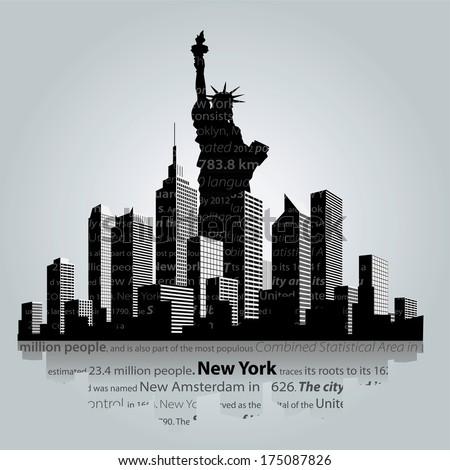 New York city silhouette.