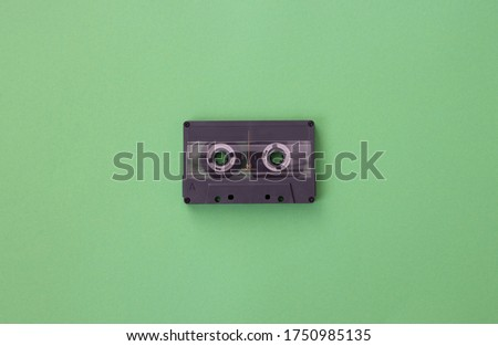 Black tape isolated on green background