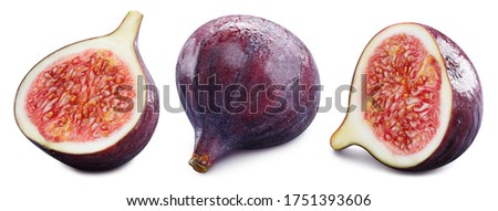 Figs collection Clipping Path. Fig isolated on white background. Set fresh fig fruits. Professional studio macro shooting #1751393606