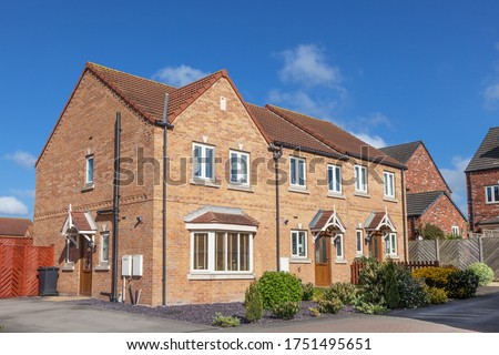 New build english terraced house Royalty-Free Stock Photo #1751495651
