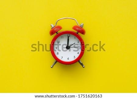 Colorful background, Retro alarm clock