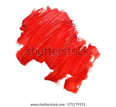 smudged lipsticks on white background #175179191