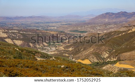 View of highway 74 along San Jacinto Mountains in southern California. #1752052925