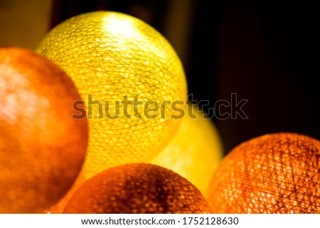 Yellow orange glowing spheres view #1752128630