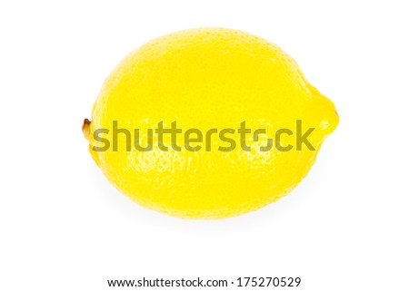 lemon isolated white background #175270529