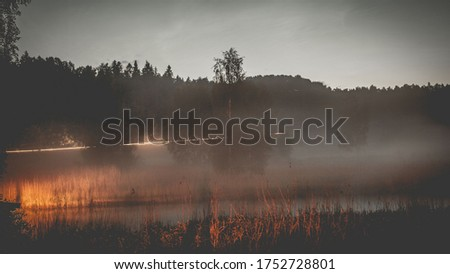 Dramatic and picturesque scene.sunset on the lake. Popular tourist attraction.Artistic picture. Beauty world.Mountain lake water landscape. Mountain lake water. Lake in mountains
