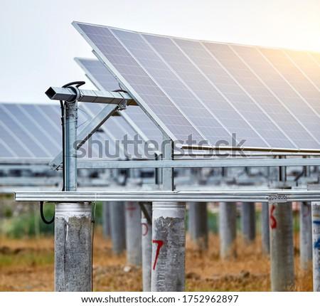 Outdoor solar photovoltaic construction base #1752962897