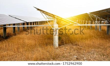 Outdoor solar photovoltaic construction base #1752962900