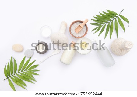spa setting or wellness background ,spa background