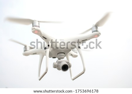 Drone flying, Quadcopter, drone motion