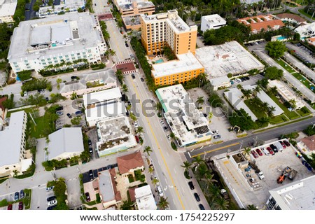 Aerial photo Atlantic Avenue Delray Beach Florida USA #1754225297
