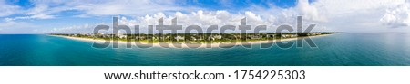 Aerial panorama Delray Beach Florida USA beautiful vibrant summer colors #1754225303