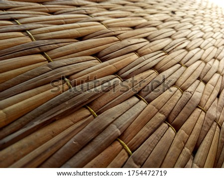 Mat made from natural materials. #1754472719