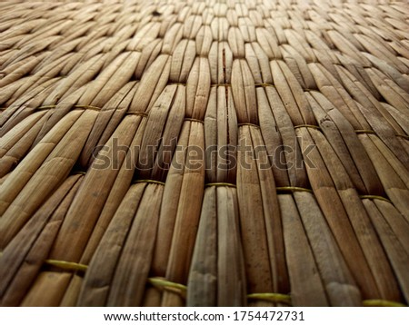 Mat characteristics and patterns made from natural materials. #1754472731