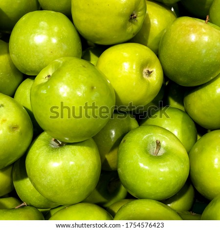 Macro Photo food fruit green apples. Stock photo Texture background of fresh green apples. Image of fruit product apples