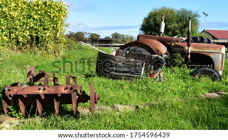 'Farm Relics' from outback Australia, rusted tractors, farm machinery and fragments of a slower time and lifestyle can be discovered in these pictures from this beautiful outback gem.