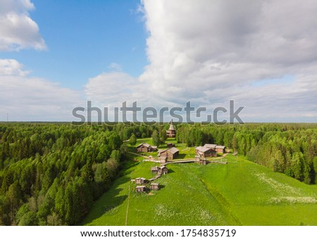 """Museum of wooden architecture in the open """"Small Korely"""". Russia, Arkhangelsk region #1754835719"""
