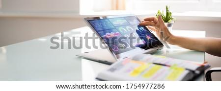 Digital Data Technology. KPI Business Dashboard Technology Royalty-Free Stock Photo #1754977286