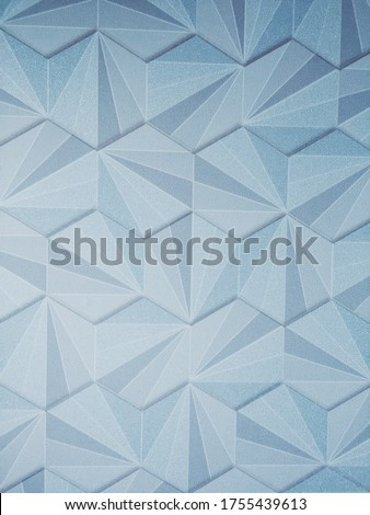 Geometric figures.  Blue background.  place for text.  Texture of geometric shapes.  Triangles and Polygons