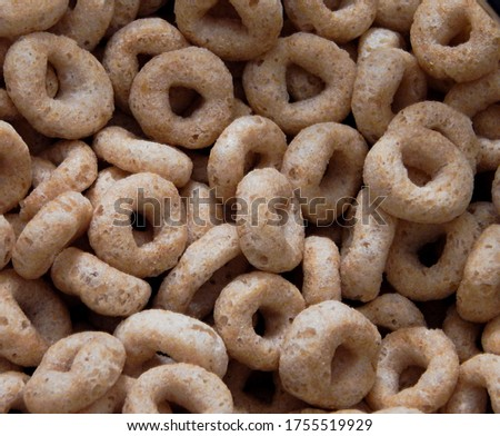 Close-up view of cereal pieces #1755519929