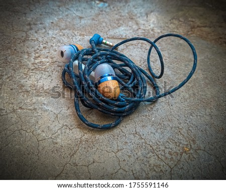 Tangle earphone on the ground. #1755591146