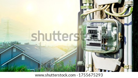Electricity meter reading for use in home appliance, Meter measuring instrument, Watt-hour meter to measure electricity consumption