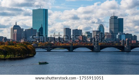 Boston skyline from across the Charles River