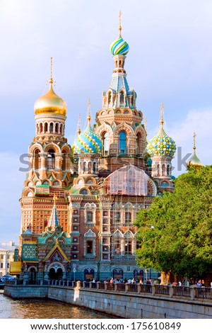 Church of Our Savior on Spilled Blood and Griboedova Canal. St. Petersburg, Russia. #175610849