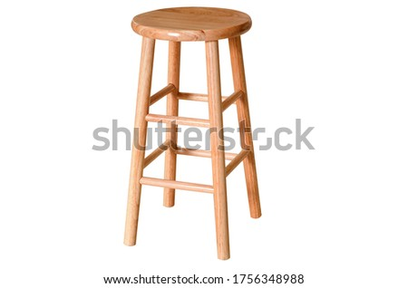 brown wooden bar stool transparent background