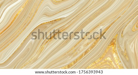 Monocolor alcohol ink marbling raster background. Liquid waves and stains. Black and gold abstract fluid art. Acrylic and oil paint flow monochrome contemporary backdrop, ivory marble with golden vein Royalty-Free Stock Photo #1756393943