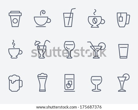 drink icons Royalty-Free Stock Photo #175687376