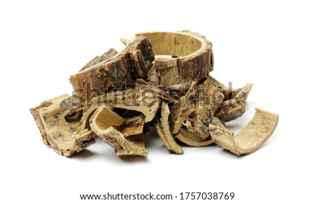 The bark of the acacia flower used as a Chinese herbal medicine, also called acacia bark #1757038769