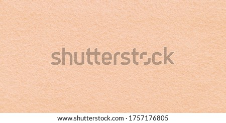 Closeup of felt background fabric texture in light coral color that mean warm, calm, relaxing and comfort . Peach felt material in High resolution photo.