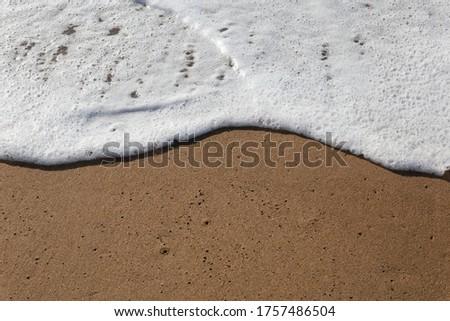 Sea wave near the seashore and sandy beach #1757486504