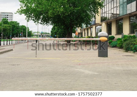 Electric and mechanical barrier. Closed barrier, entry prohibition #1757502377