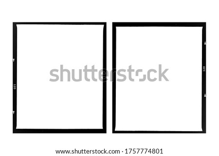 Medium format color film frame.With white space. Royalty-Free Stock Photo #1757774801