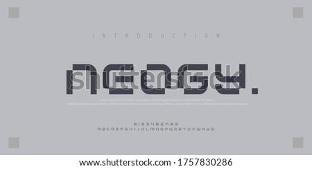 Abstract modern urban alphabet fonts. Typography sport, simple, technology, fashion, digital, future creative logo font. vector illustration #1757830286